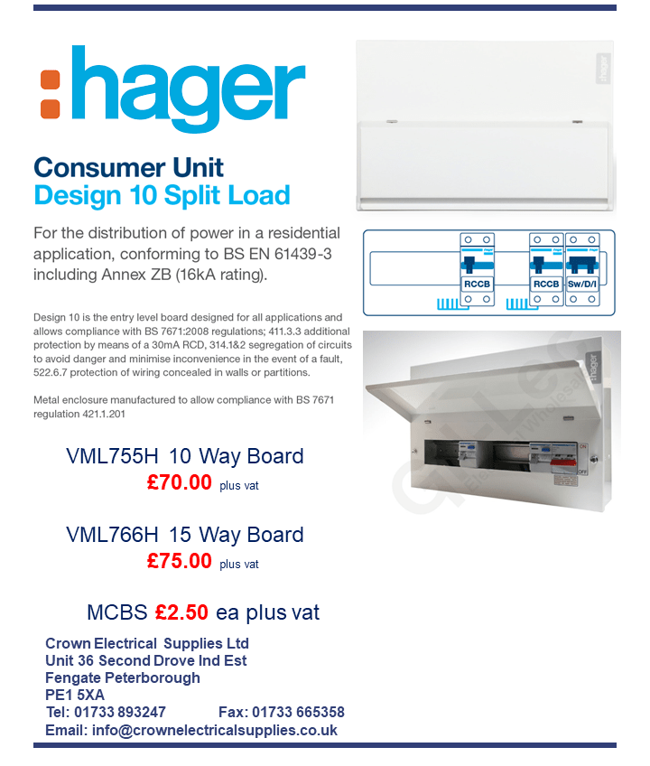 Hager Consumer Unit