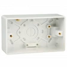 HAGER WMPB2-46 TWIN MOULDED BACK BOX