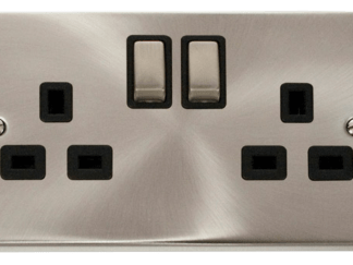 CLICK VPSC536BK TWIN SWITCH SOCKET 2G DP