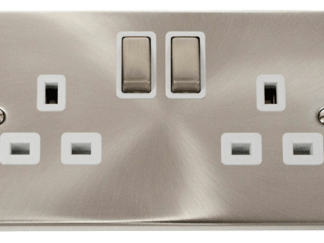CLICK VPSC536WH TWIN SWITCHED SOCKET 2G DP