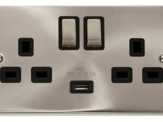 CLICK VPSC570BK USB TWIN SWITCHED SOCKET 2G DP