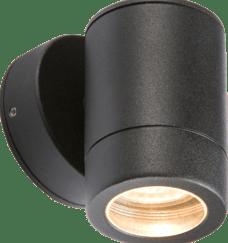 WALL1LBK BLACK FIXED GU10 LIGHT IP65
