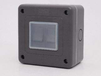 PREMSEAL PSIP1G IP66 2GANG OUTDOOR LIGHT SWITCH