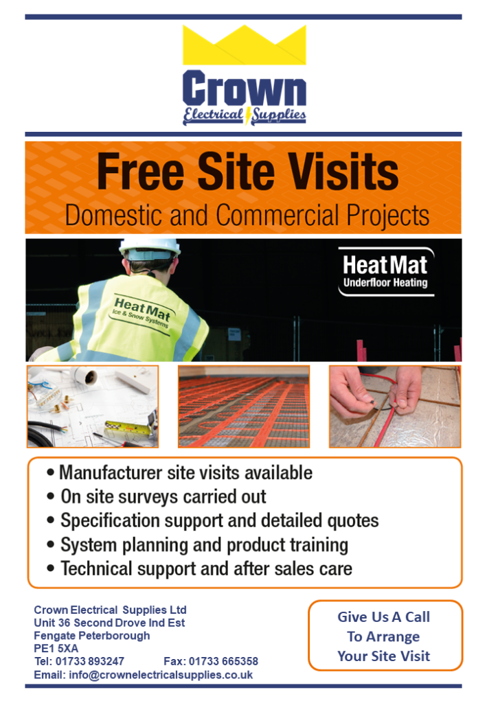 free underfloor heating site visits