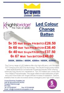 Knightsbridge colour change battens