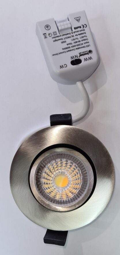 JEWEL CCT DL7WCCTSC FIRE RATED DIRRECTIONAL DIMMABLE IP65 DOWNLIGHT